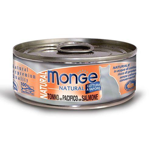 Фото - Корм для кошек Monge Cat Natural тунец с лососем конс. корм для кошек monge cat natural тунец с курицей иговядиной конс