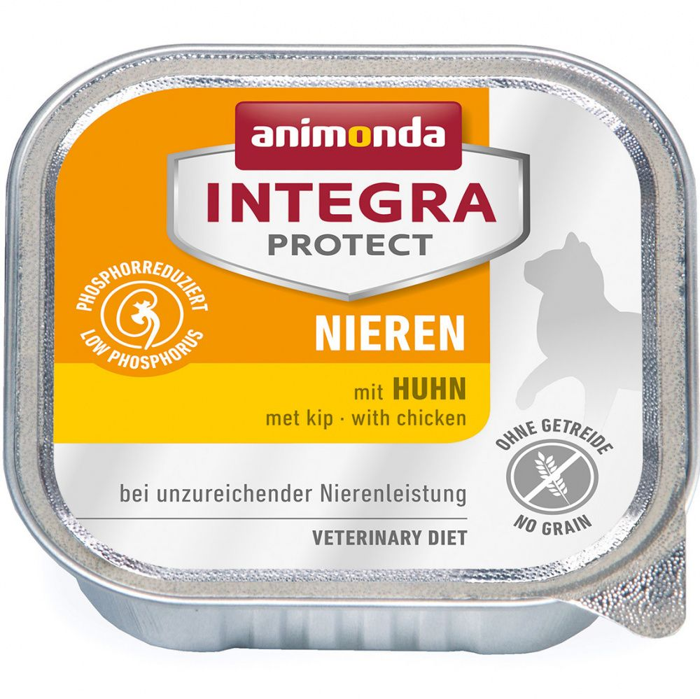 Фото - Корм для кошек Animonda Integra Renal с курицей при ХПН, конс. 100г корм для кошек animonda rafin soup коктейль из индейки телятины и сыра конс 100г