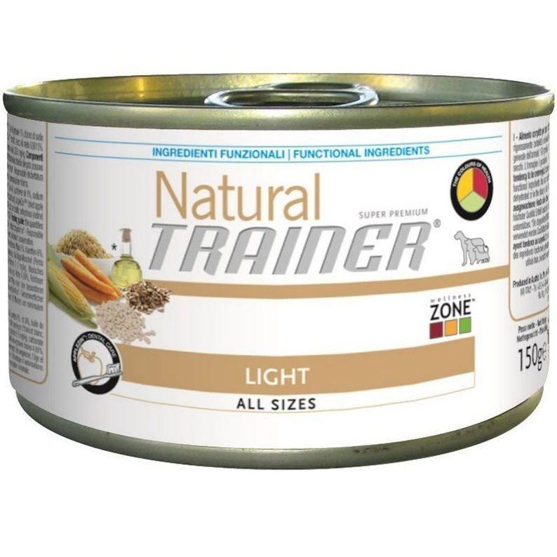 Корм для собак TRAINER Natural для всех пород облегченный курица, индейка конс. 150г