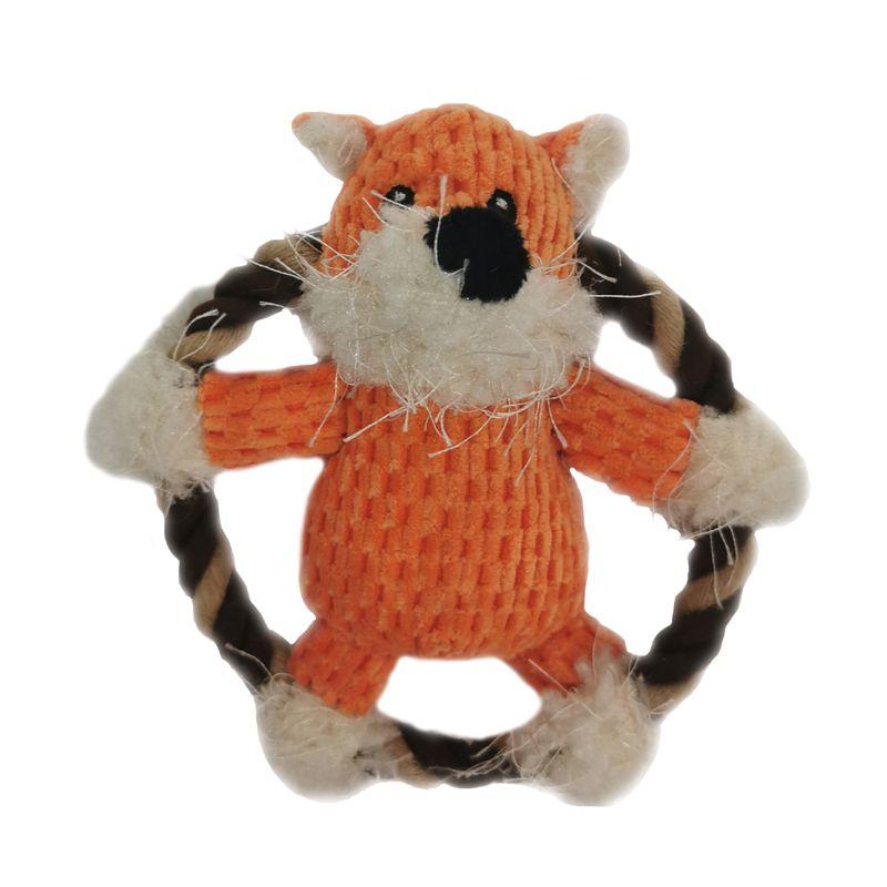 Игрушка для собак CHOMPER Into the Woods Лиса на кольце из каната с пищалкой 14 см игрушка для собак chomper тяни толкай восьмерка из каната