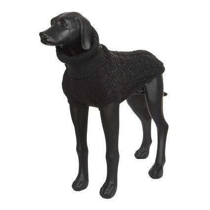 Свитер для собак RUKKA Stardust Knitwear светоотражающий черный XL 50см