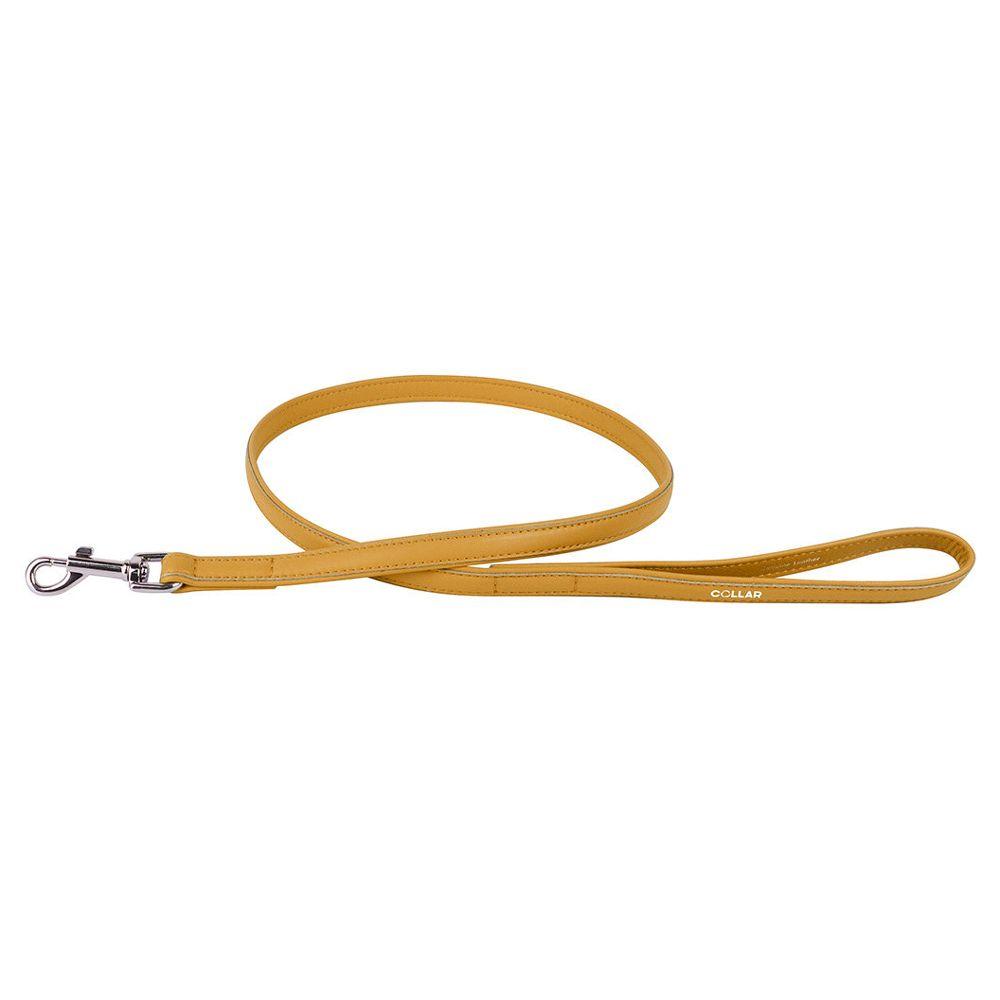 Поводок для собак COLLAR Glamour 18мм 122см желтый поводок для собак collar glamour 12мм 122см розовый
