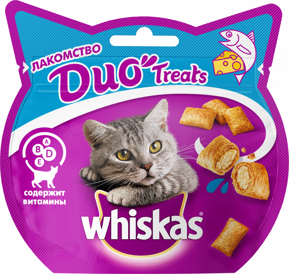 Лакомство для кошек Whiskas Duo лосось, сыр 40г