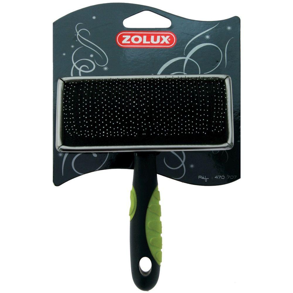 Пуходерка ZOLUX с каплей средняя плоская салат. ручка