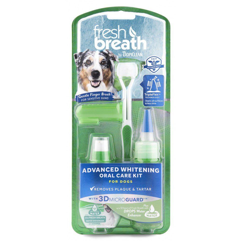 """Отбеливающий набор для ухода за зубами TROPICLEAN """"Свежее дыхание"""" для собак от Бетховен"""