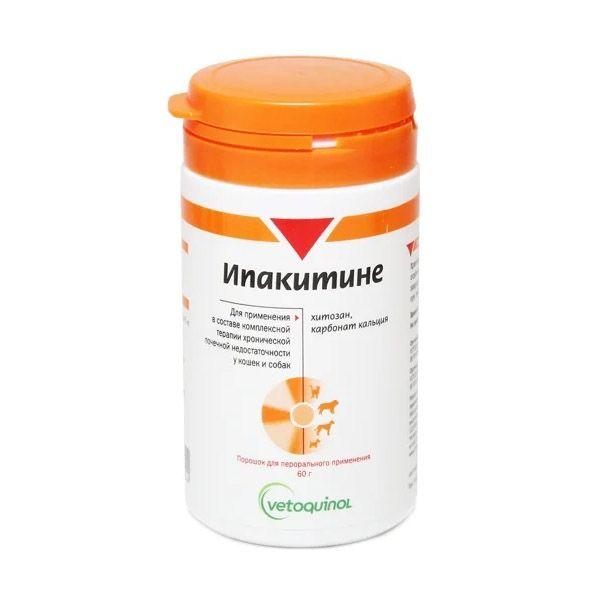 Препарат VETOQUINOL Ипакитине При хронической почечной недостаточности у собак и кошек 60г