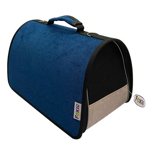 Сумка-переноска для животных Foxie Colour 37х22х21см синяя недорого