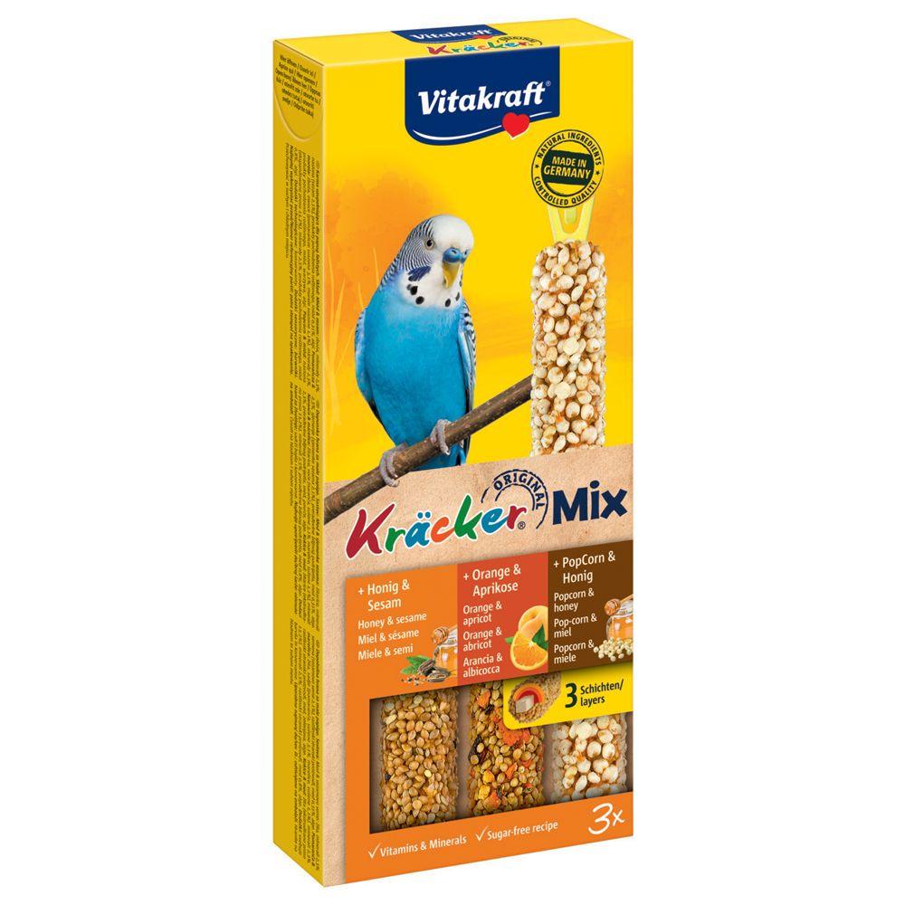 Лакомство для птиц VITAKRAFT Крекеры для волнистых попугаев мед, кукуруза, апельсин (3шт.уп)