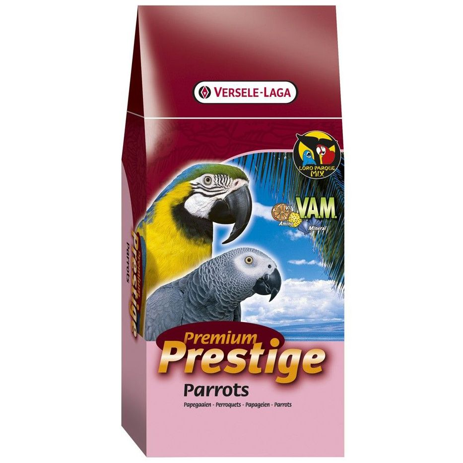 Корм для птиц VERSELE-LAGA Prestige Premium Parrots для крупных попугаев 15кг