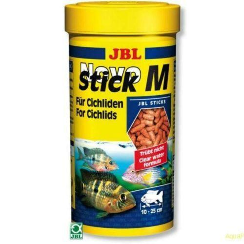 Корм для рыб JBL NovoStick M для плотоядных цихлид в форме палочек 250мл (110г) цена и фото
