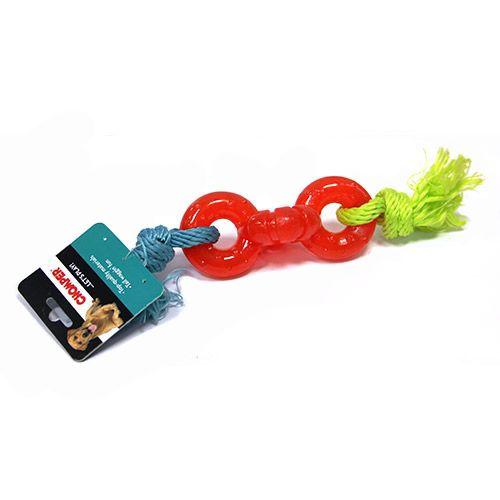Игрушка для собак CHOMPER Колечки на веревке игрушка для собак chomper колечки на веревке