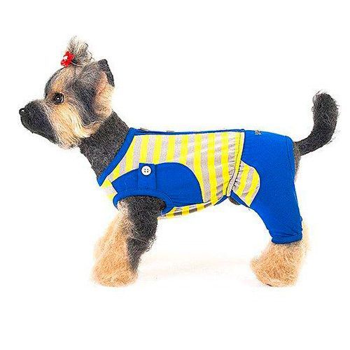 Костюм для собак HAPPY PUPPY Дачный синий размер 4 костюм для собак happy puppy дачный синий размер 1