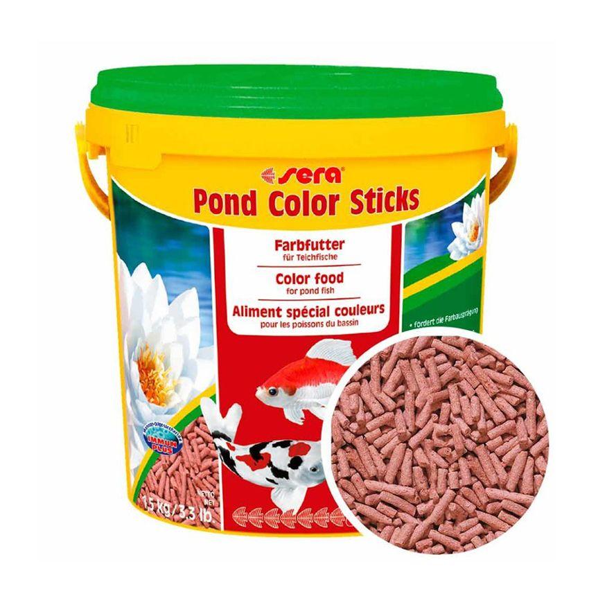 Корм для рыб SERA для прудовых рыб Color Sticks 10л (1,5кг) ведро delta ведро без крышки 10л 0110 82 цветы