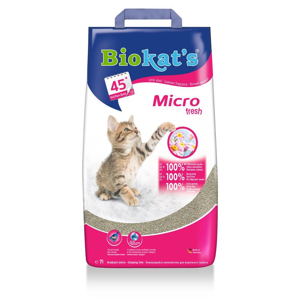 Наполнитель для кошачьего туалета Biokat's микро fresh комкующийся 7л