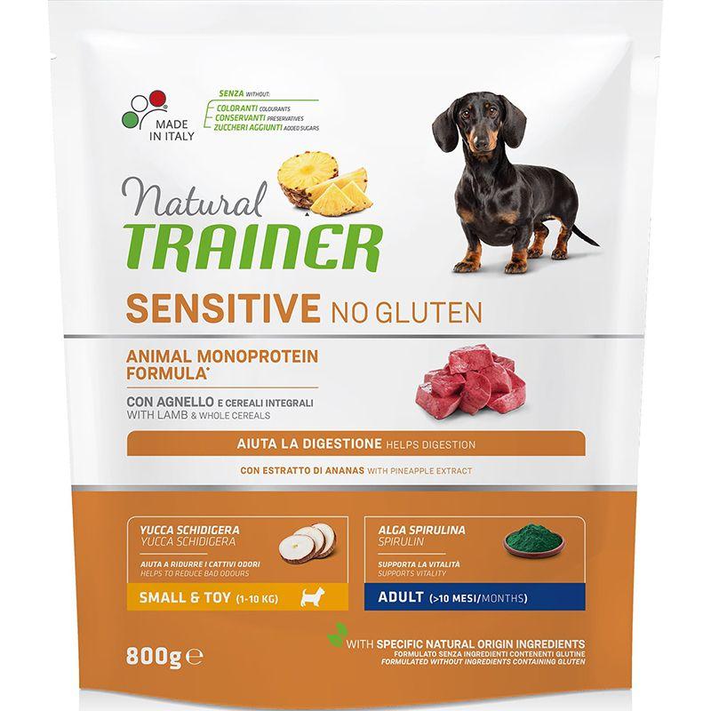 Корм для собак TRAINER Nat. Sensitive для мелких пород ягненок сух сух. 800г корм для собак winner для мелких пород говядина сух 800г