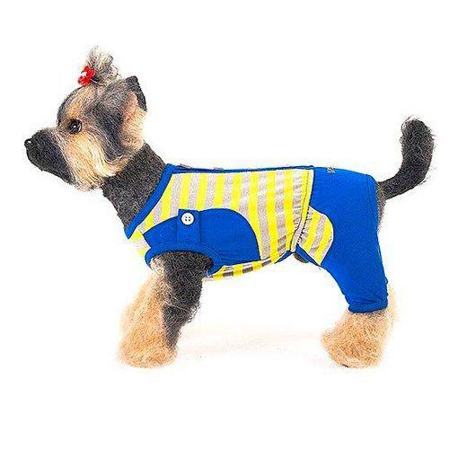 Костюм для собак HAPPY PUPPY Дачный синий размер 2