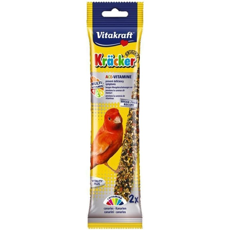 Лакомство для птиц VITAKRAFT Крекеры для канареек мультивитамин 2шт/уп