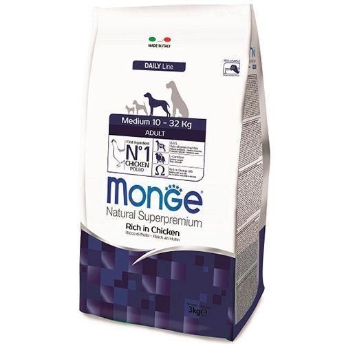 Корм для собак Monge Dog Medium корм для взрослых собак средних пород сух. 3кг