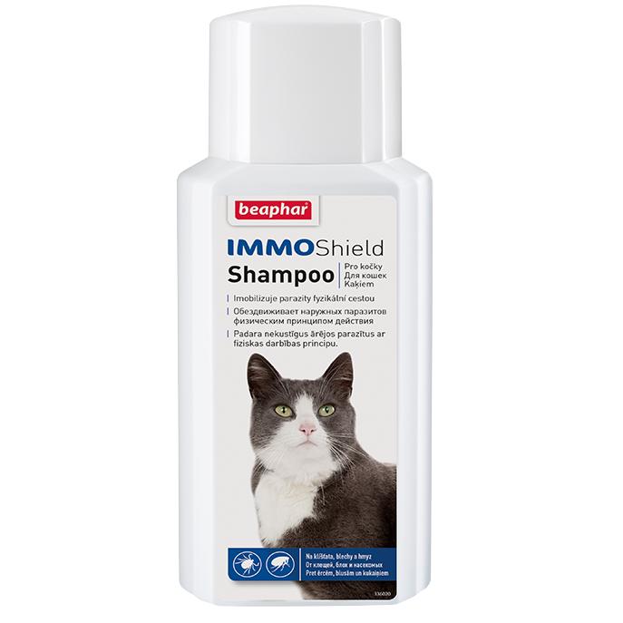 все цены на Шампунь Beaphar Immo Shield Shampoo от паразитов для кошек 200мл онлайн