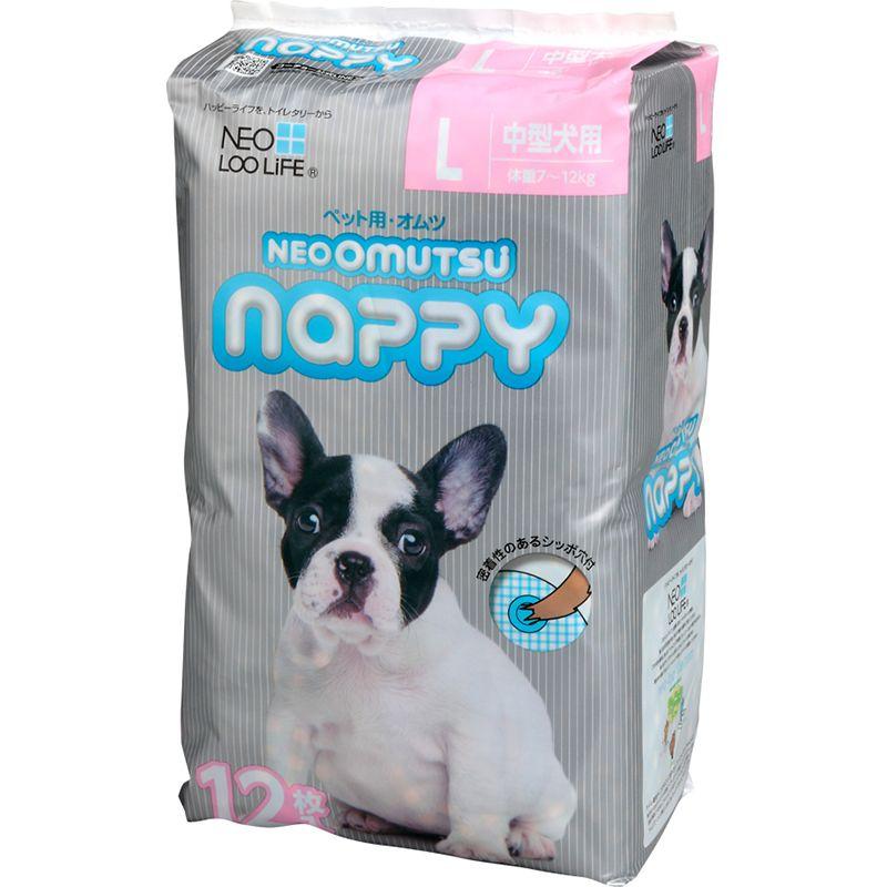 Подгузники для кошек и собак NEOOMUTSU размер L на вес 7-12кг 12шт