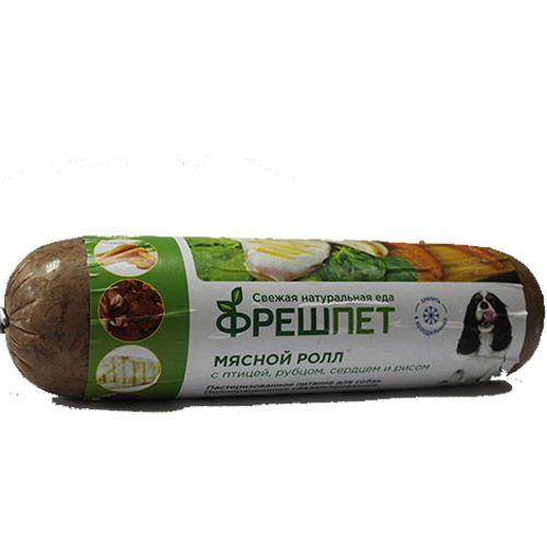 Корм для собак Minime FreshPet ролл из мяса птицы с рубцом и рисом конс. 1кг