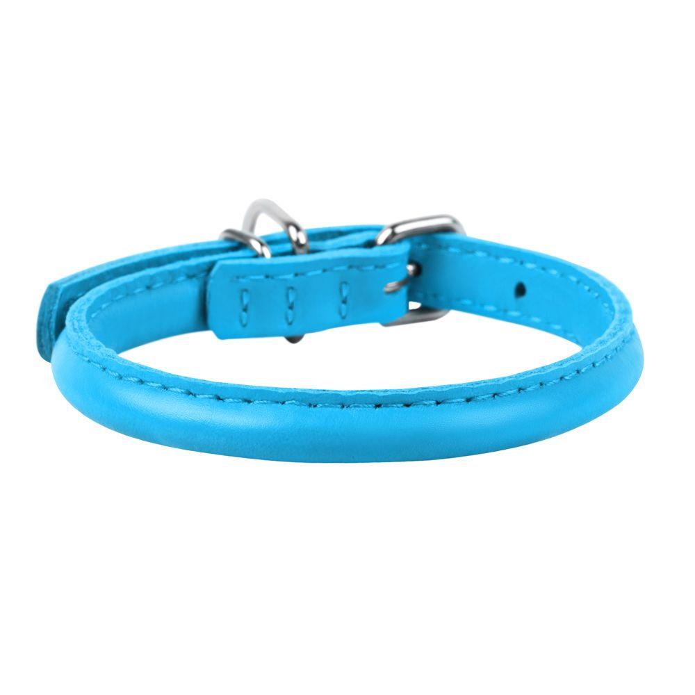 Ошейник для собак COLLAR Glamour круглый для длинношерстных собак 8мм, 20-25см синий фото