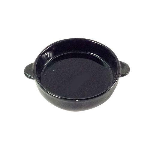 Миска для животных Foxie Сковородка черная керамическая 16х13х3см 200мл