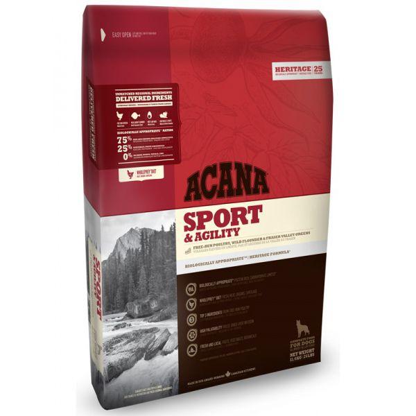 Корм для собак ACANA Sport&Agiliti Dog Heritage для активных собак цыпленок (75/25) сух. 11,4кг acana heritage sport