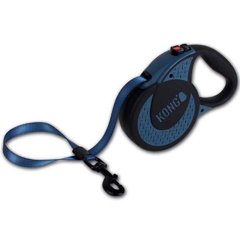 Рулетка для собак KONG Ultimate XL (до 70кг) лента 5м синяя
