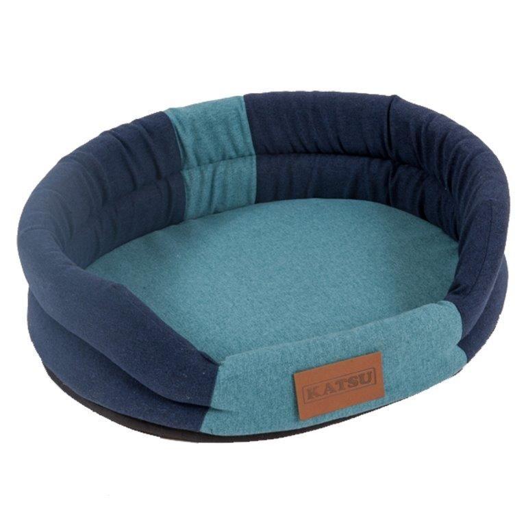 Лежак для животных KATSU Animal синий/голубой 79х65х17см лежак katsu sofa orinoko для животных 60 х 44 х 21 см бирюзовый