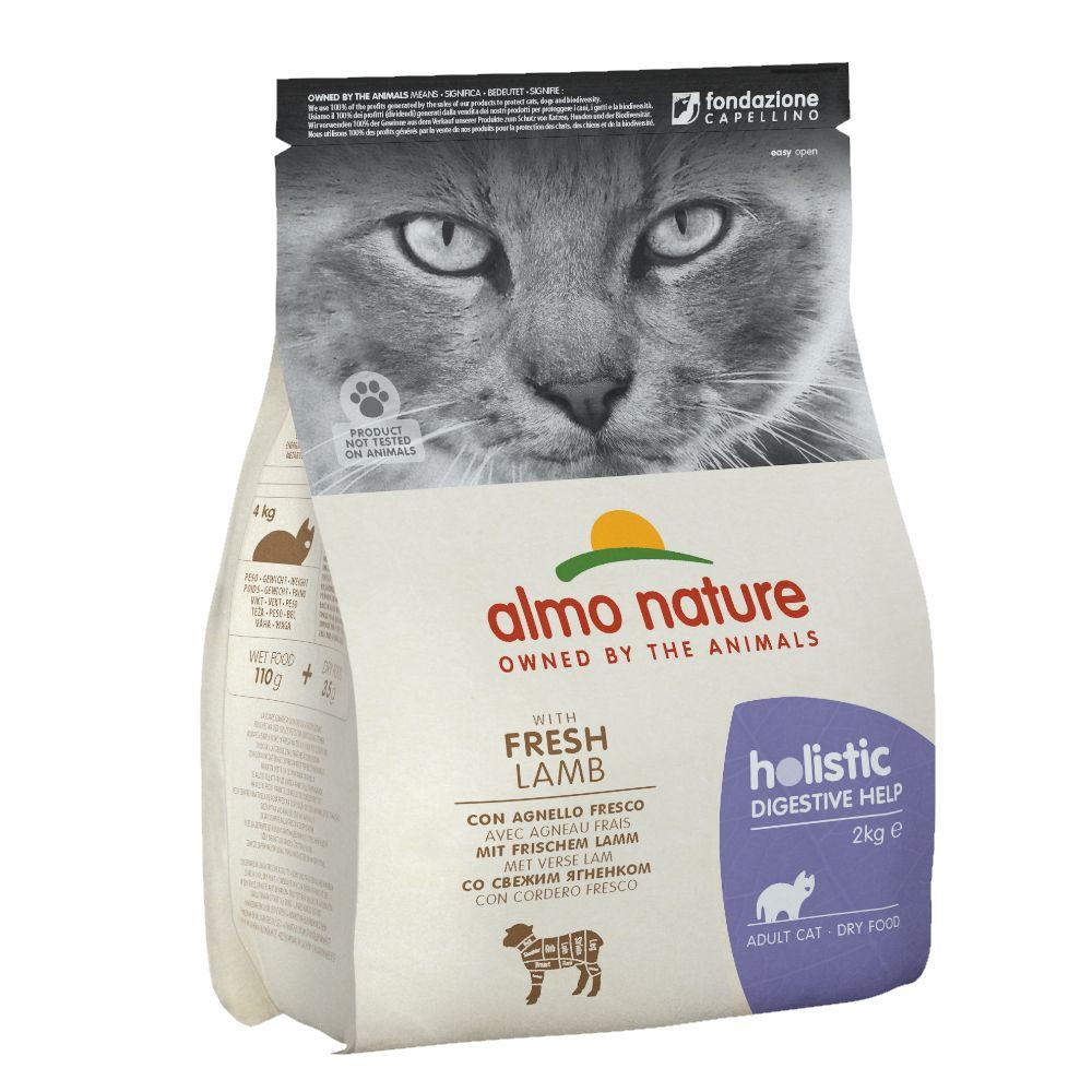 Корм для кошек Almo Nature Holistic-Digestivehelp профилактика заболеваний ЖКТ, ягненок сух. 2кг