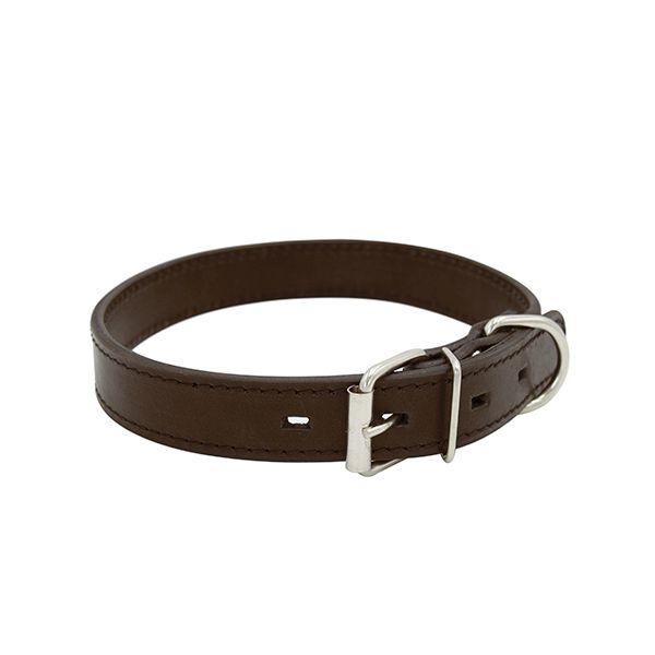 Ошейник для собак ZOOEXPRESS Строченый 2сл 18мм 42см коричневый