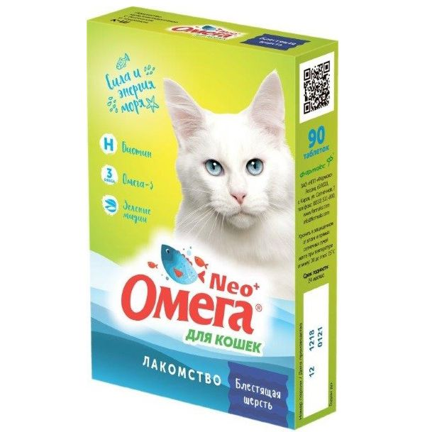 Лакомство для кошек Омега Neo+ биотин, таурин фото