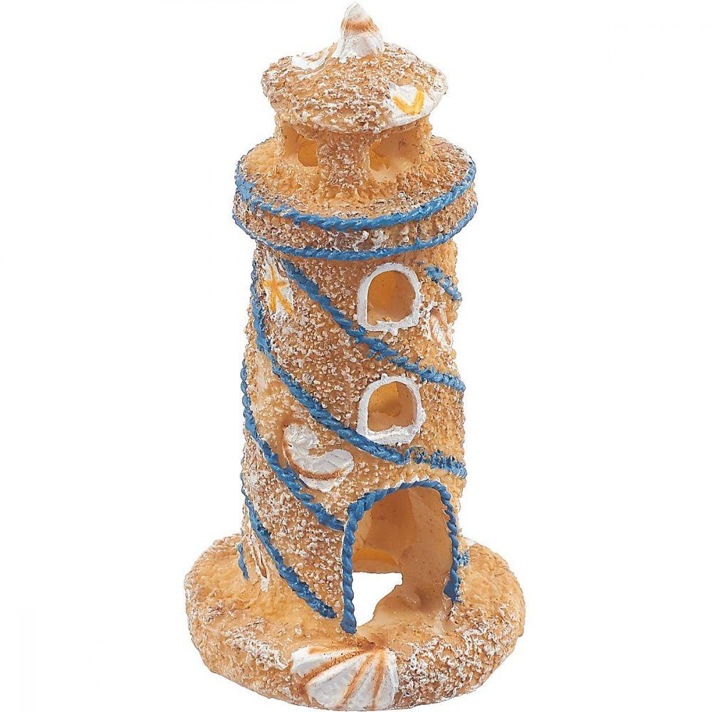 Грот для аквариумов PENN-PLAX Песчаный маяк с ракушками 10см цена и фото