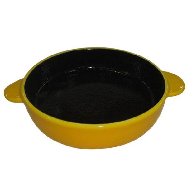 Миска для животных Foxie Сковородка оранжевая керамическая 19,5х15,5х5,4 см 320мл