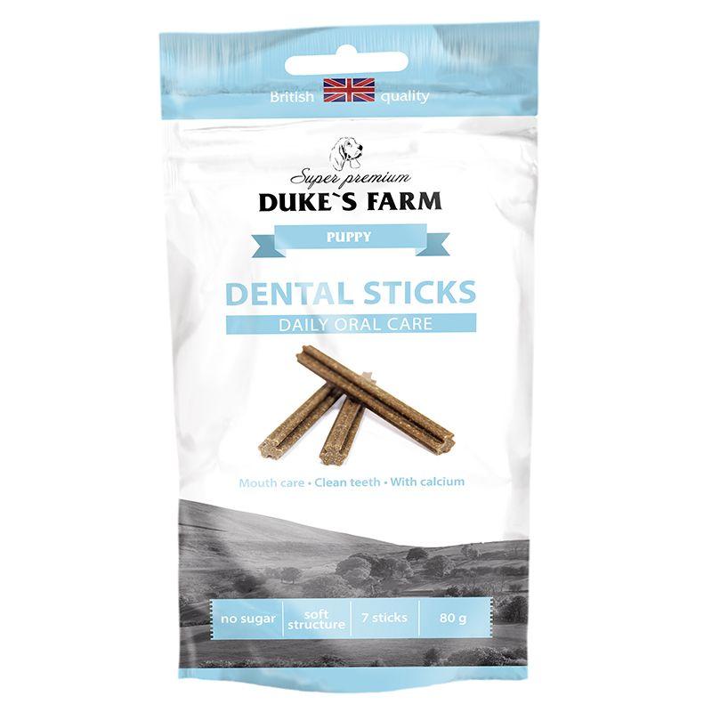 Лакомство для щенков DUKES FARM Dental sticks puppies 80г