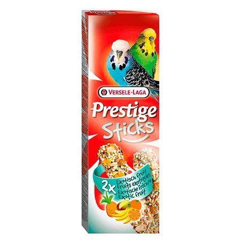 Лакомство для птиц VERSELE-LAGA Prestige палочки для волнистых попугаев с экзот. фруктами 2х30г лакомства для птиц versele laga prestige палочки для канареек с яйцом и ракушечником 2х30г