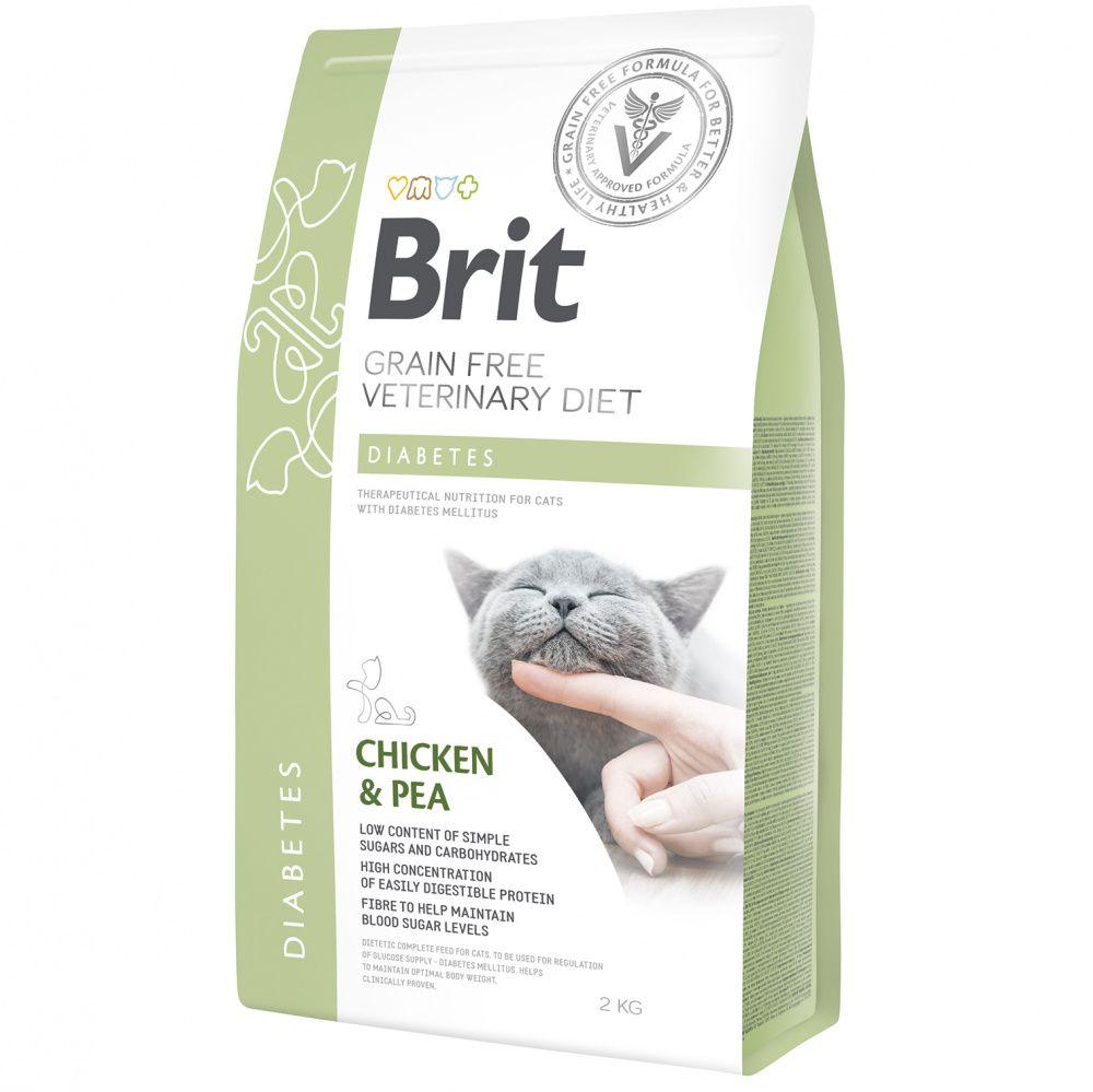 Корм для кошек Brit VDC Diabetes беззерновая диета при диабете сух. 2кг