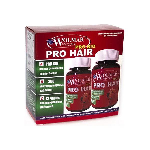 Витамины для собак WOLMAR Bio Pro Hair Витамины для кожи и шерсти 360 таб