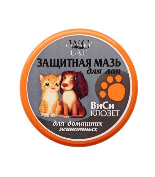 Мазь WC CLOSET Защитная для лап животных 100мл левомеколь для животных