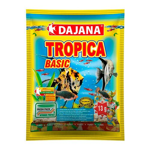 Фото - Корм для рыб DAJANA Tropica Flaces хлопья 80мл сухой корм для рыб dajana pet betta 100 мл 25 г
