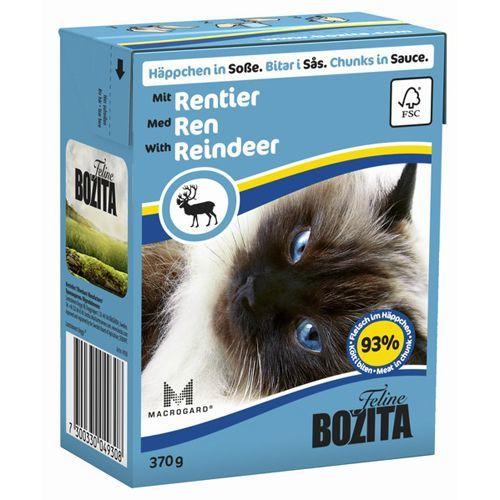 Корм для кошек BOZITA Кусочки в соусе с оленем конс.370г