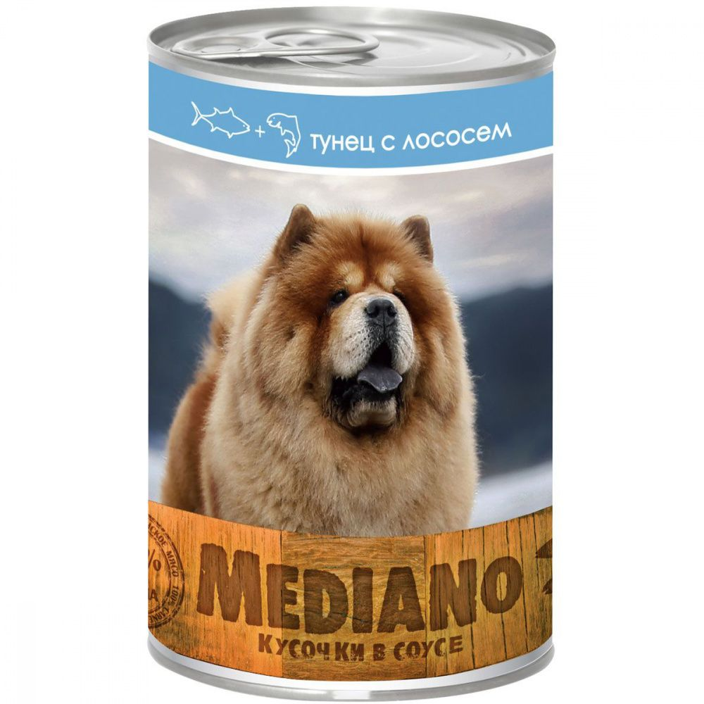Корм для собак VitaPRO Mediano тунец, лосось конс. 405г