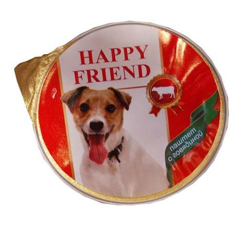 Корм для собак HAPPY FRIEND Паштет с говядиной конс.125г
