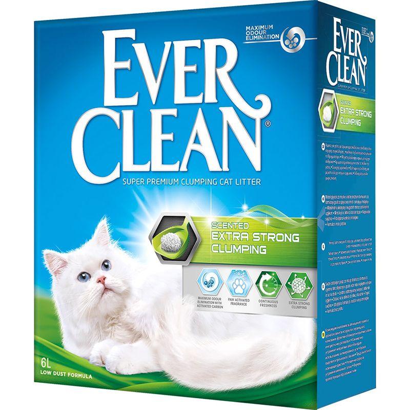 Наполнитель для кошачьего туалета EVER CLEAN Extra Strong Clumping Scented комкующийся с ароматиз. 6 литров наполнитель для кошачьего туалета ever clean aqua breeze комкующийся аромат морской бриз 10л
