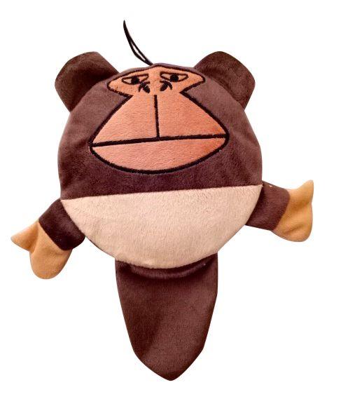 Игрушка для собак MAJOR Обезъяна с пищалкой круг 17см плюш игрушка для собак trixie еж плюш 17см