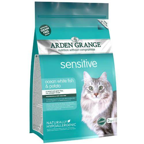 Корм для кошек ARDEN GRANGE с деликатным желудком и чувствительной кожей беззерновой сух. 2кг