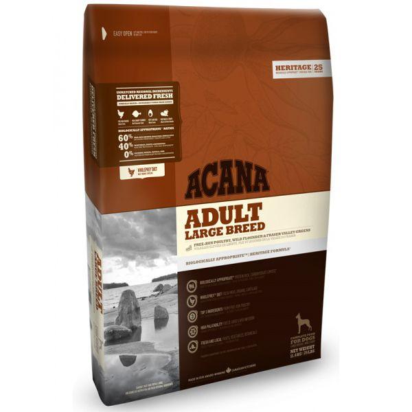 Корм для собак ACANA Adult Large Breed Heritage крупных пород цыпленок сух. 11,4кг acana heritage sport