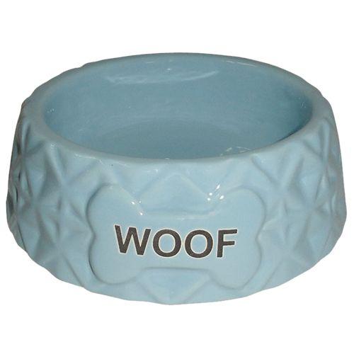 Миска для животных Foxie Diamond Woof голубая керамическая 16х16х5,5см 360мл цена и фото