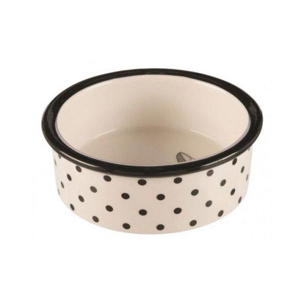 Миска для животных TRIXIE керамическая белый/черный d 12см 0,3л аромалампа индонезийская ручной росписи керамическая 12см 12 см